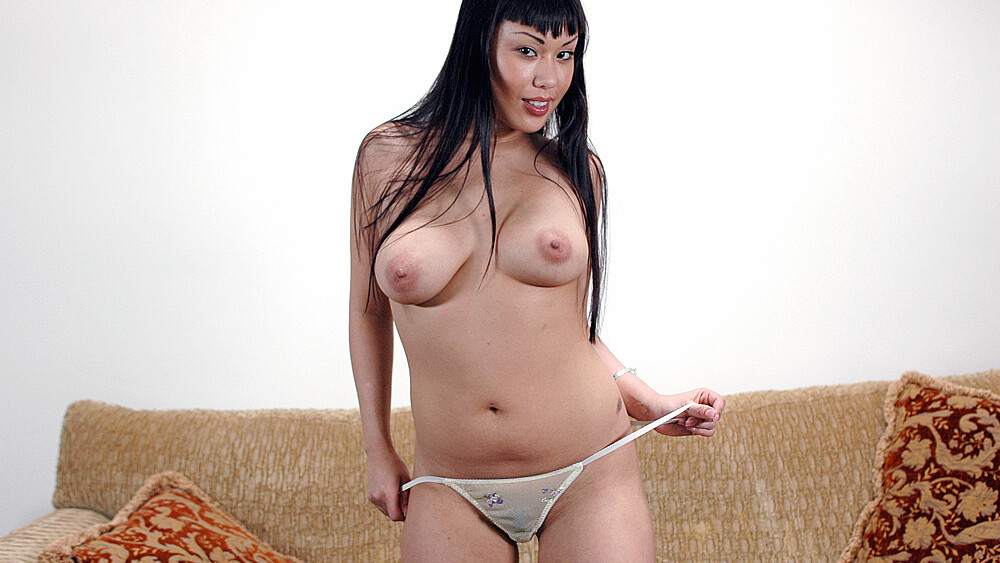 Avena Lee fucking in the couch with her big natural tits