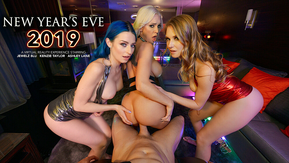 Ashley Lane, Jewelz Blu, and Kenzie Taylor Bring in the New Year with a BANG!