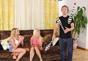 Anikka Albrite, Mia Malkova & Michael Vegas in 2 Chicks Same Time - Sex Position 1