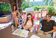 Dillion Harper & Lexi Belle & Xander Corvus in 2 Chicks Same Time