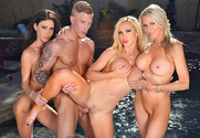 Nikki Benz, Emma Starr, Jessica Jaymes & Richie Black in I Have a Wife - Sex Position 2