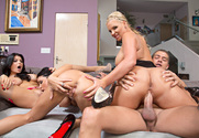 Phoenix Marie, Jessica Jaymes, Romi Rain & Xander Corvus in I Have a Wife - Sex Position 1