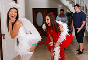 Gracie Glam & Celeste Star in Lesbian Girl on Girl - Sex Position 1