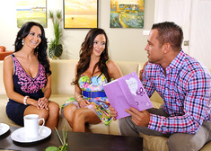 Ariella Ferrera, Ava Addams & Johnny Castle in My Friends Hot Mom - Centerfold
