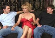 Mia Ivanova & Kris Slater & Trent Soluri in My Friend's Hot Mom story pic