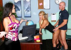Carmella Bing, Shyla Stylez & Johnny Sins in My First Sex Teacher - Centerfold