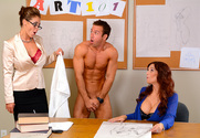 Syren De Mer, Eva Notty & Chad White in My First Sex Teacher - Sex Position 1