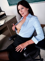Professor Porn Video with Big Tits and Brunette scenes