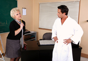 Mrs. Jewell & Alan Stafford in My First Sex Teacher story pic