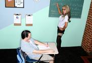 Sarah Jessie & Trent Soluri in My First Sex Teacher story pic