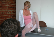 Allison Kilgore & James Deen in My First Sex Teacher - Sex Position 1