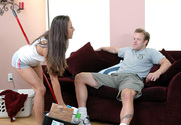 Kira Kums & Seth Dickens in My Naughty Latin Maid - Sex Position 1