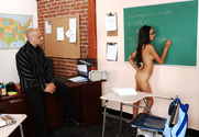 Alexis Love & Kayla Synz & Ben English in Naughty Bookworms story pic