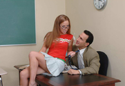Leighlani Red & Dino Bravo in Naughty Bookworms - Sex Position 1