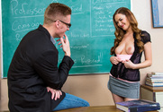 Samantha Hayes  & Richie Black in Naughty Bookworms - Sex Position 1