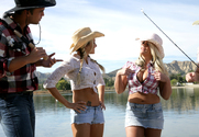 Briana Blair & Sadie Swede & Rocco Reed in Naughty Country Girls