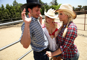 Brooke Haven, Emma Heart & Anthony Rosano in Naughty Country Girls - Sex Position 1