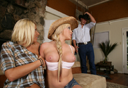 Riley Evans & Leslie Foxx & Chris Johnson in Naughty Country Girls