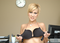 & Amber Wild in Naughty Office - Centerfold