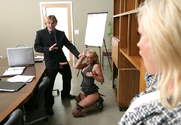Diamond Foxxx, Phoenix Marie, Christian & Evan Stone in Naughty Office - Sex Position 1