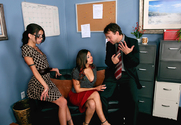 Micah Moore, Rachel Starr & Kurt Lockwood in Naughty Office - Sex Position 1