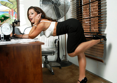 Penny Flame, Aiden Starr, Herschel Savage, Alan Stafford & Charles Dera in Naughty Office - Centerfold