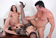 Penny Flame, Ava Devine & Billy Glide in Naughty Office - Sex Position 2