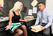 Riley Jenner  & Johnny Castle in Naughty Office - Sex Position 1