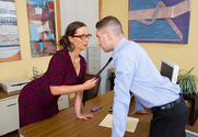Sydney Leathers  & Brad Knight in Naughty Office - Sex Position 1