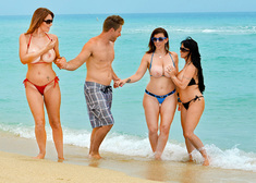 Sara Jay, Charlee Chase, Holly Halston & Levi Cash in Seduced by a cougar - Centerfold