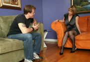 Sophia Mounds & Seth Dickens in Seduced By A Cougar story pic