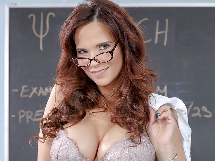 Syren De Mer is an anal sex student at Anal College