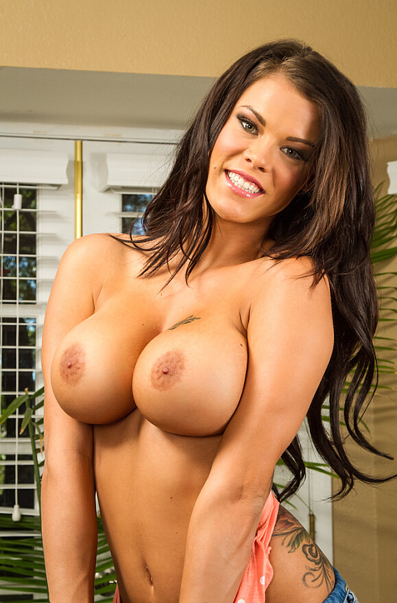 Peta Jensen - xxx pornstar in many Brunette & Fake Tits & Lingerie videos