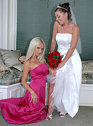 Bride & Friend Porn Video with Big Tits and Blonde scenes