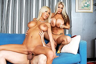 Misty Vonage fucking in the living room with her big tits - Blowjob