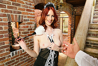 Your wife Alex Harper fulfills your naughty maid fantasy - Sex Position 1