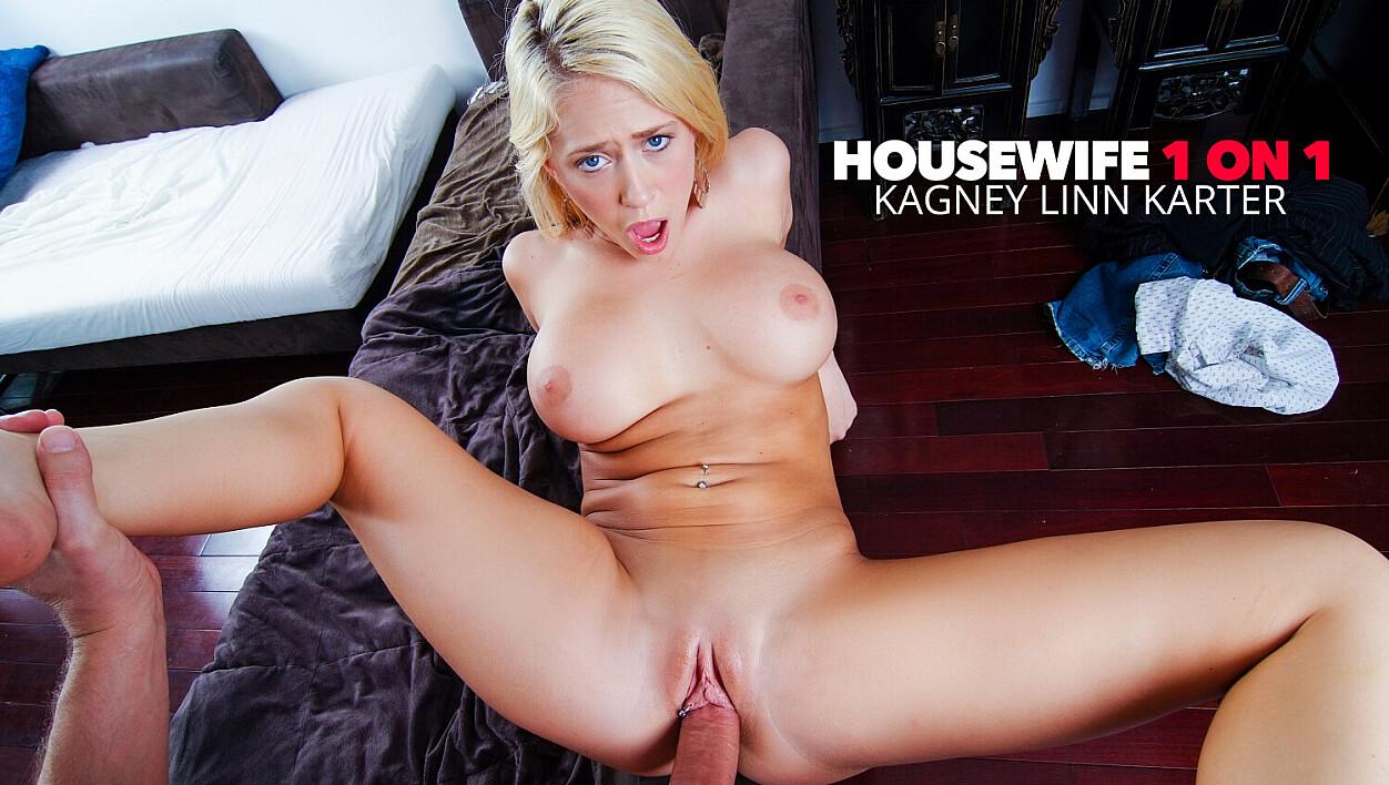 Wife Kagney Linn Karter fucking her husbands big cock