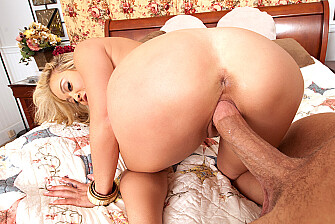Mia Lelani fucking in the bedroom with her big tits - Sex Position 3