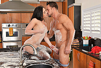 Whitney Wright fucking in the kitchen with her small tits - Sex Position 3