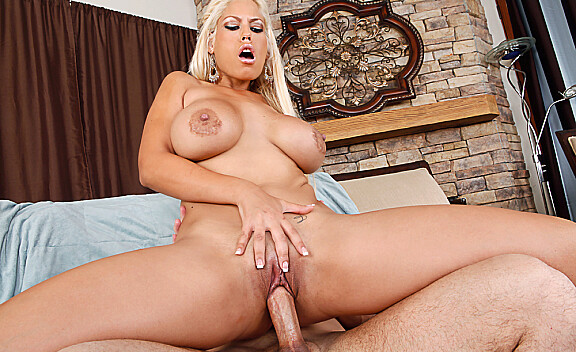 Bridgette B. fucking in the living room with her big tits - Sex Position #9