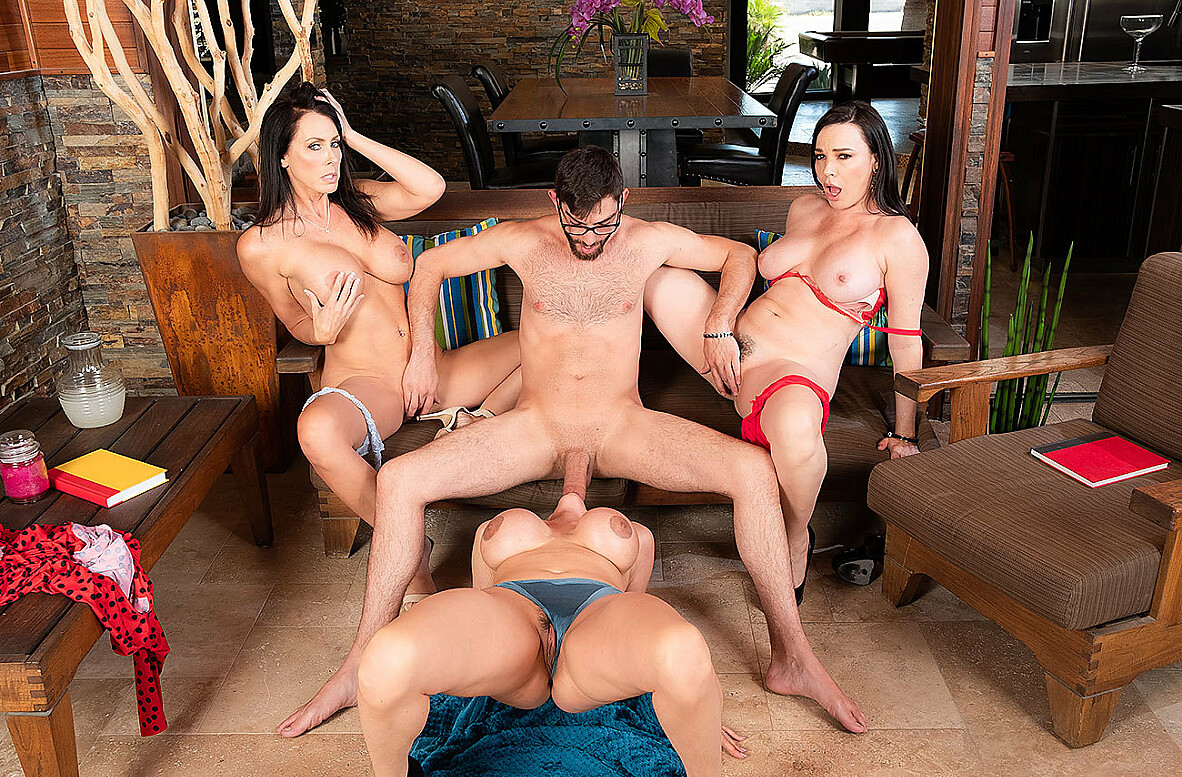 Watch Ariella Ferrera, Dana DeArmond, Reagan Foxx and Logan Long 4K video in My Friend's Hot Mom