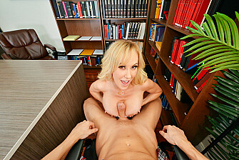 Your friend's busty mom Brandi Love get's her hands on your Cock!! - Sex Position 2