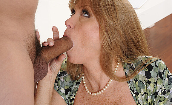 Mature Darla Crane fucking in the office with her tattoos - Sex Position #4