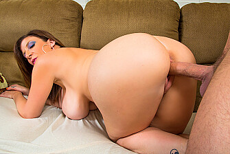 Sara Jay fucking in the living room with her tits - Sex Position 1