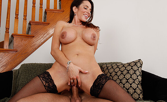 Ariella Ferrera fucking in the living room with her big tits - Sex Position #8