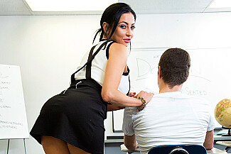 Audrey Bitoni fucking in the classroom with her big tits - Sex Position 1