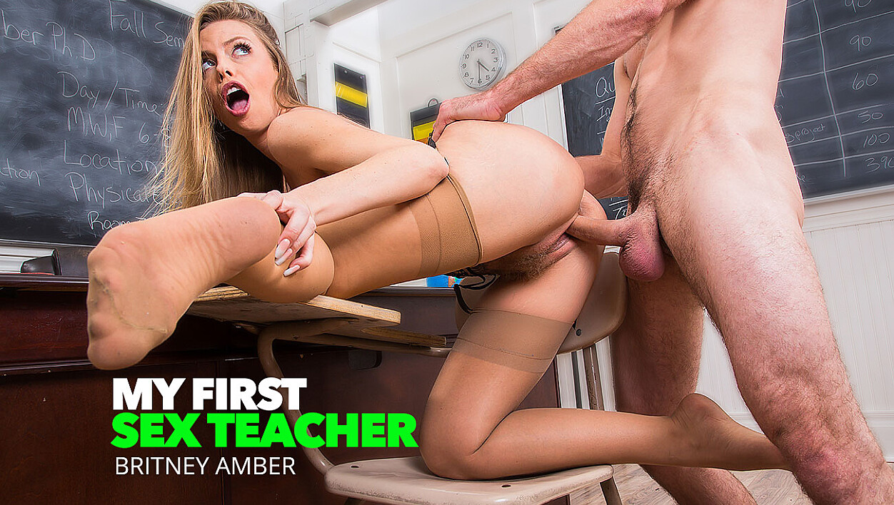 Professor Amber Takes Her Students Big Cock