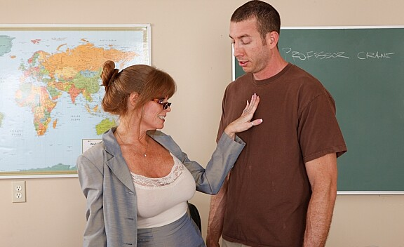 Teacher Darla Crane fucking in the couch with her big tits - Sex Position #1
