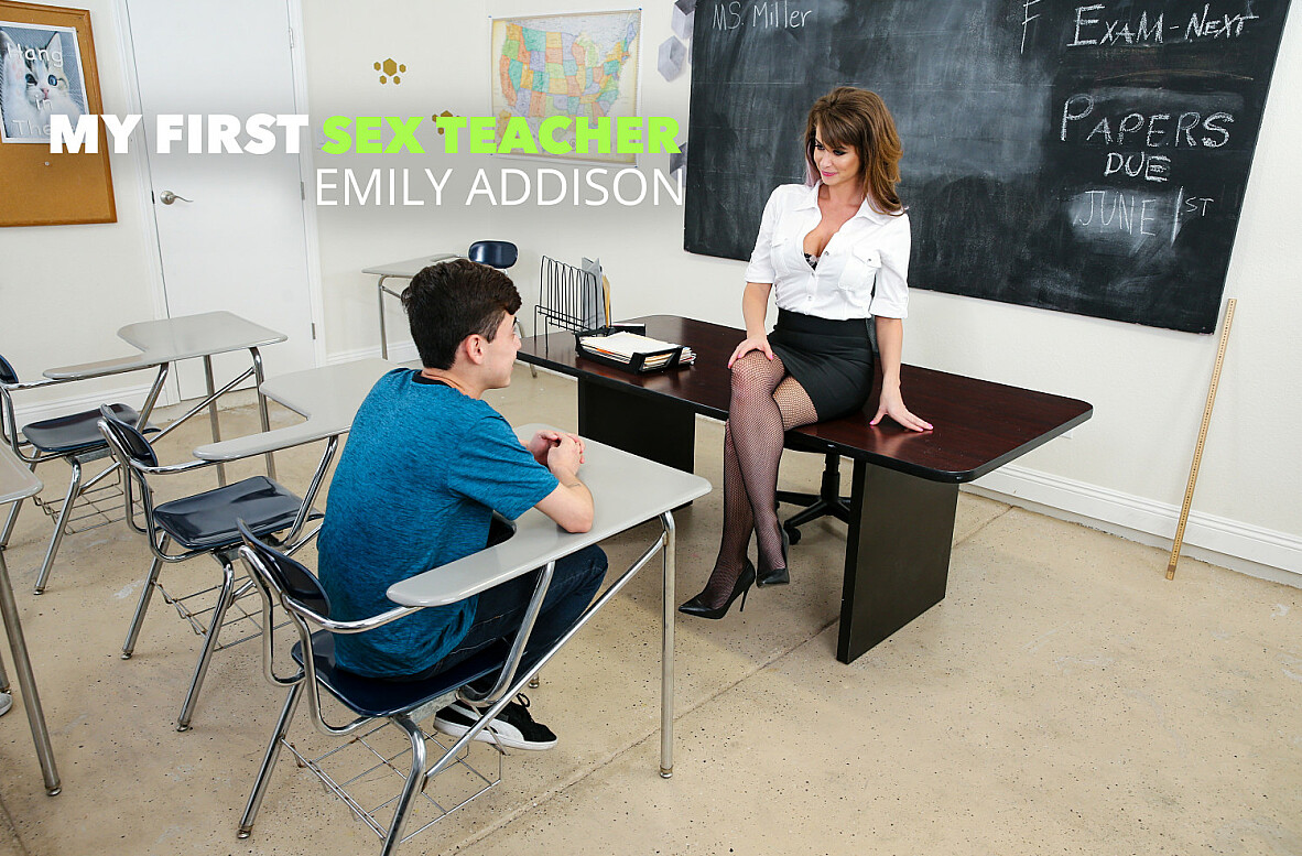 "Watch Emily Addison and Juan ""El Caballo"" Loco 4K video in My First Sex Teacher"