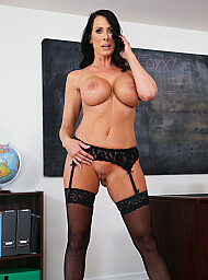 MILF & Professor Porn Video with American and Ball licking scenes